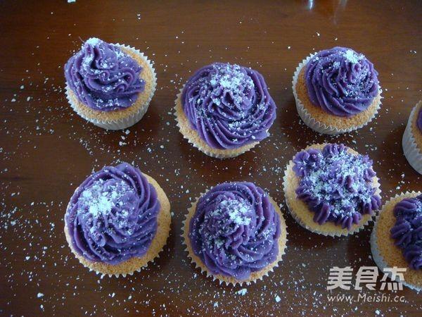 椰香紫薯小蛋糕怎样做