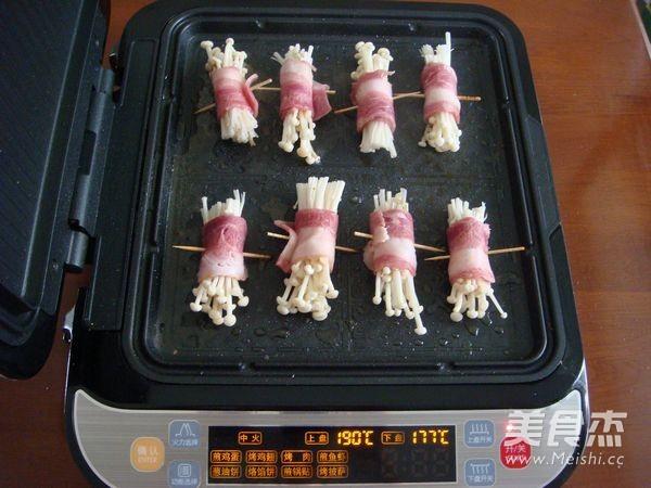 香煎孜然培根金针菇怎么煮