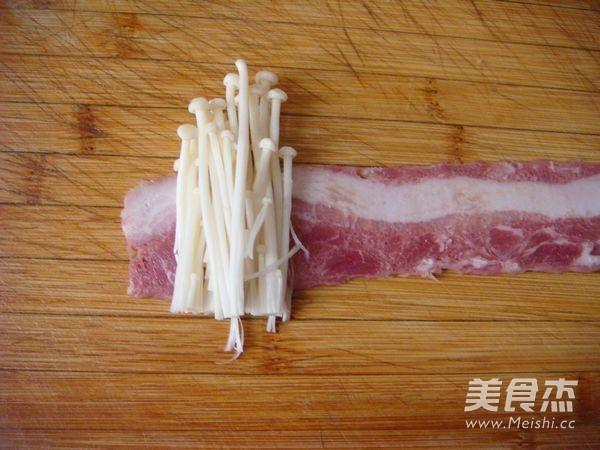 香煎孜然培根金针菇的家常做法