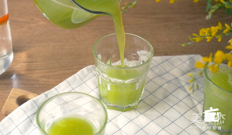 凤梨苦瓜汁的步骤