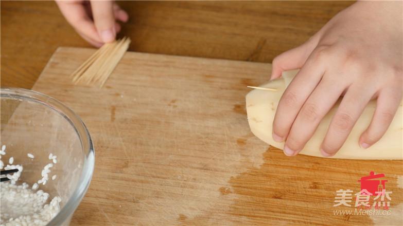 桂花糯米藕的步骤