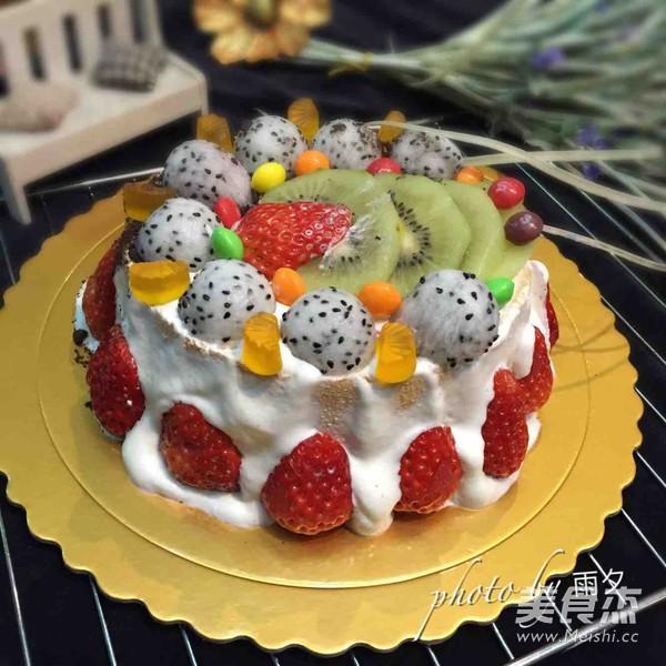 自制六寸生日蛋糕成品图