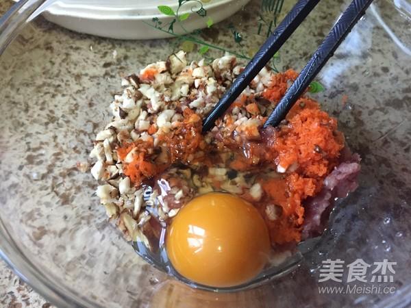 胡萝卜香菇肉馄饨的做法图解