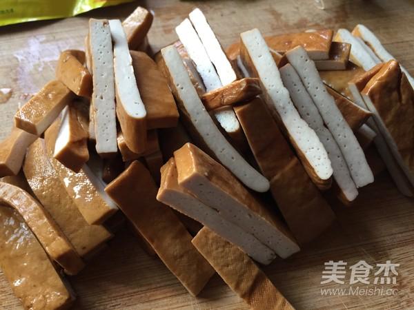 青椒炒香干豆腐的做法图解