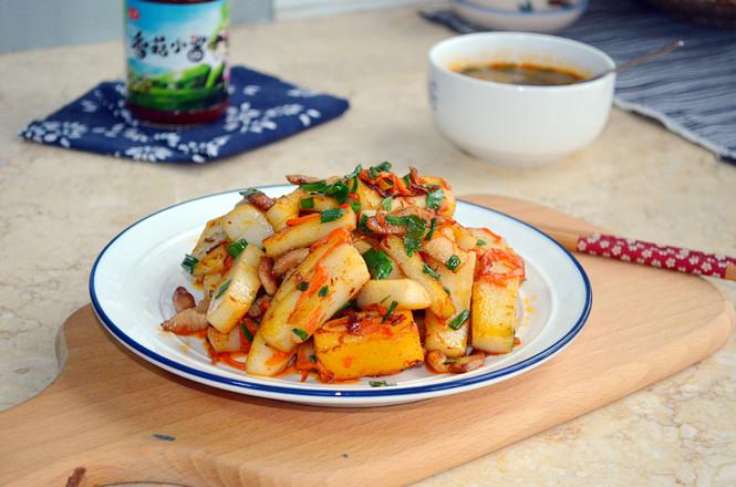 香菇小酱炒年糕成品图
