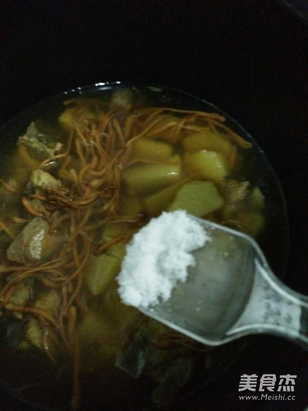 淮山虫草花排骨汤怎么吃