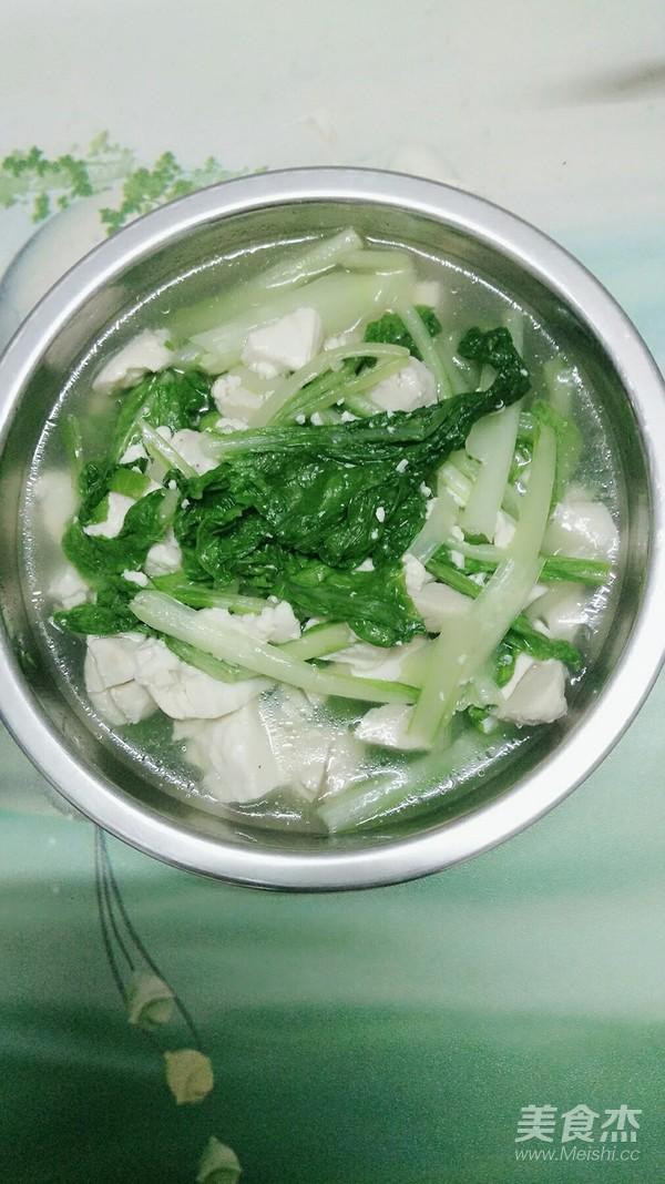 小白菜豆腐汤怎么煸