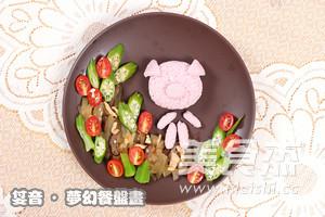 粉粉猪小妹餐盘画怎么煮