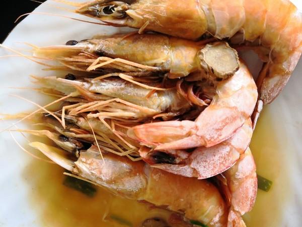 清蒸海虾怎么炒