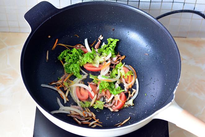 青菜炒面怎么做