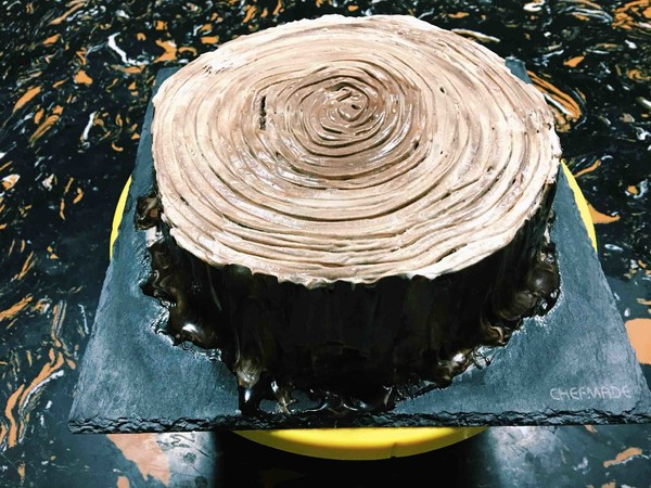 树桩蛋糕的步骤