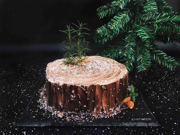 树桩蛋糕成品图