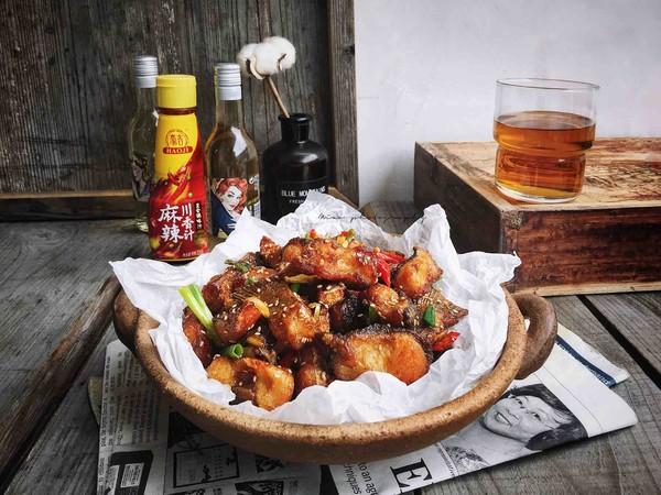 外酥里嫩—麻辣川香炸鱼块成品图
