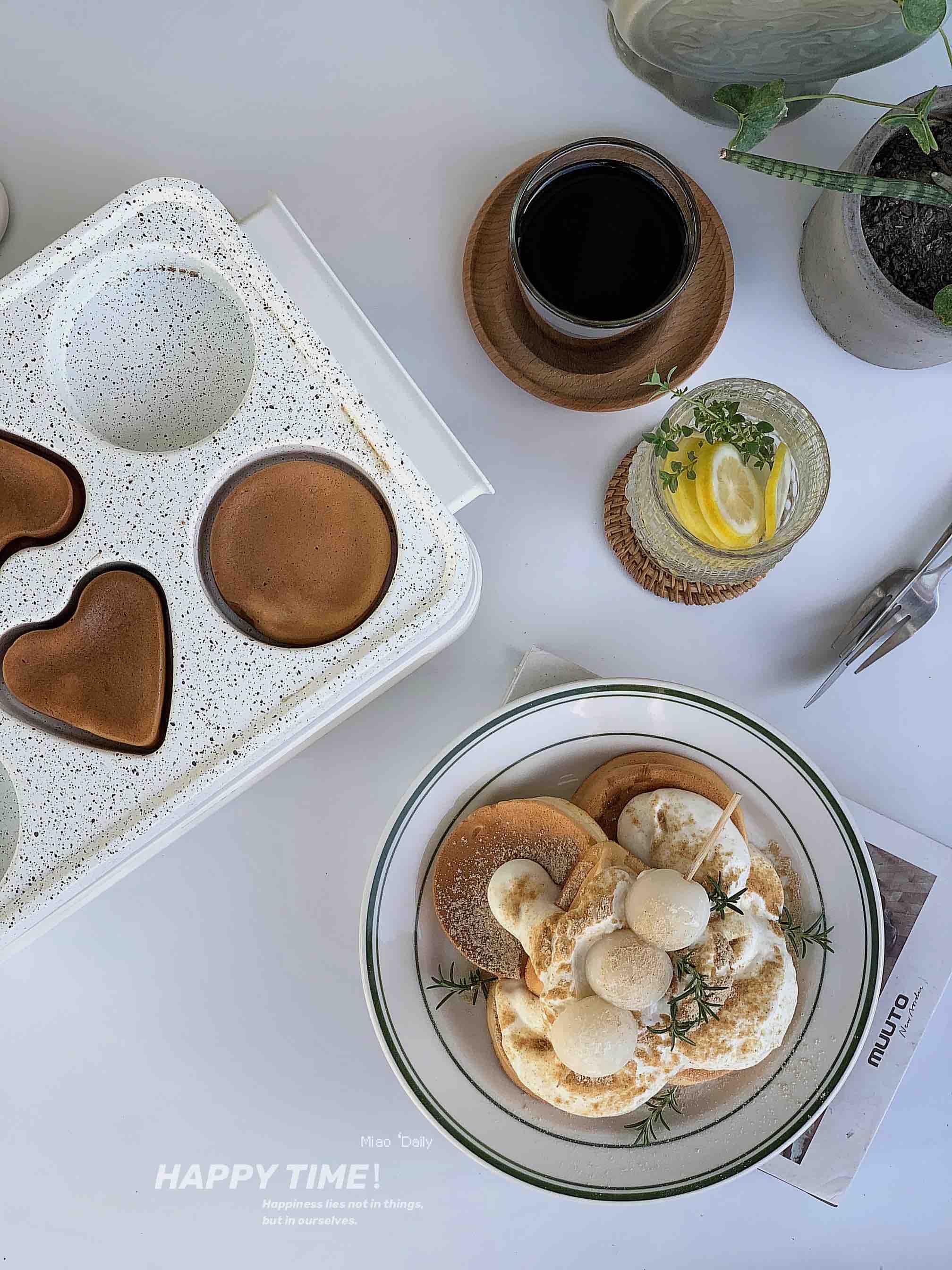 香甜松软的酸奶舒芙蕾松饼成品图
