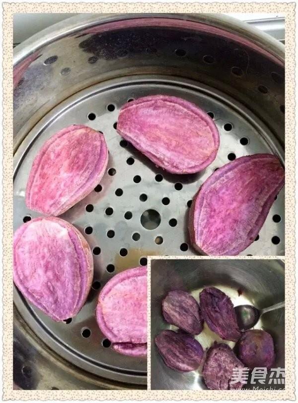 红枣紫薯发糕的做法图解