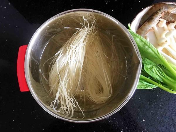 鲜虾时蔬米线的做法图解