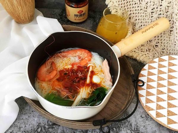 鲜虾时蔬米线怎么煮