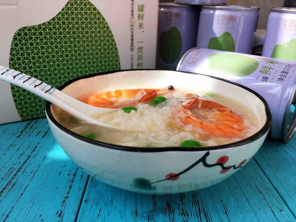 鲜虾豌豆砂锅粥怎样煸