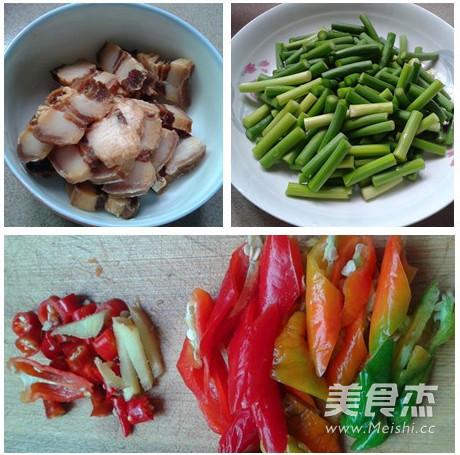 腊肉炒蒜苔的做法大全