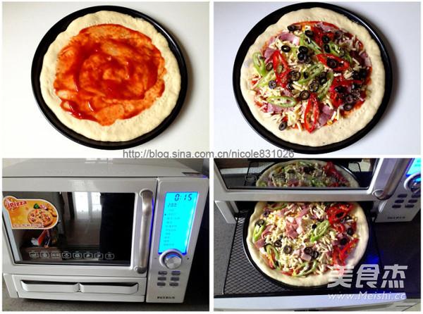 黑橄榄培根匹萨的家常做法