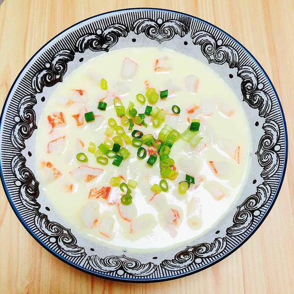 豆浆蟹柳蒸水蛋(经典家常粤菜)怎样做