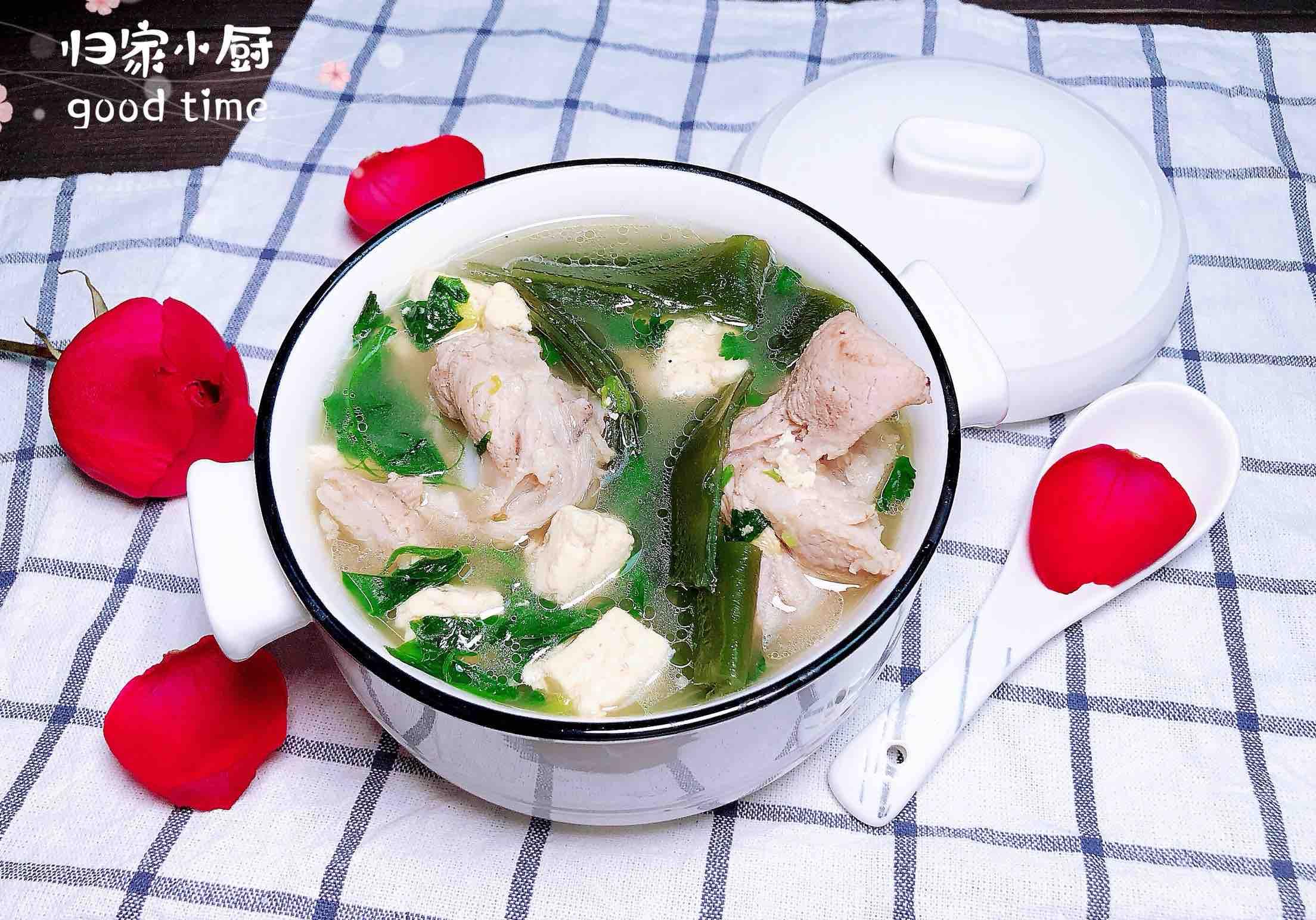 海带棒骨汤-长寿靓汤成品图