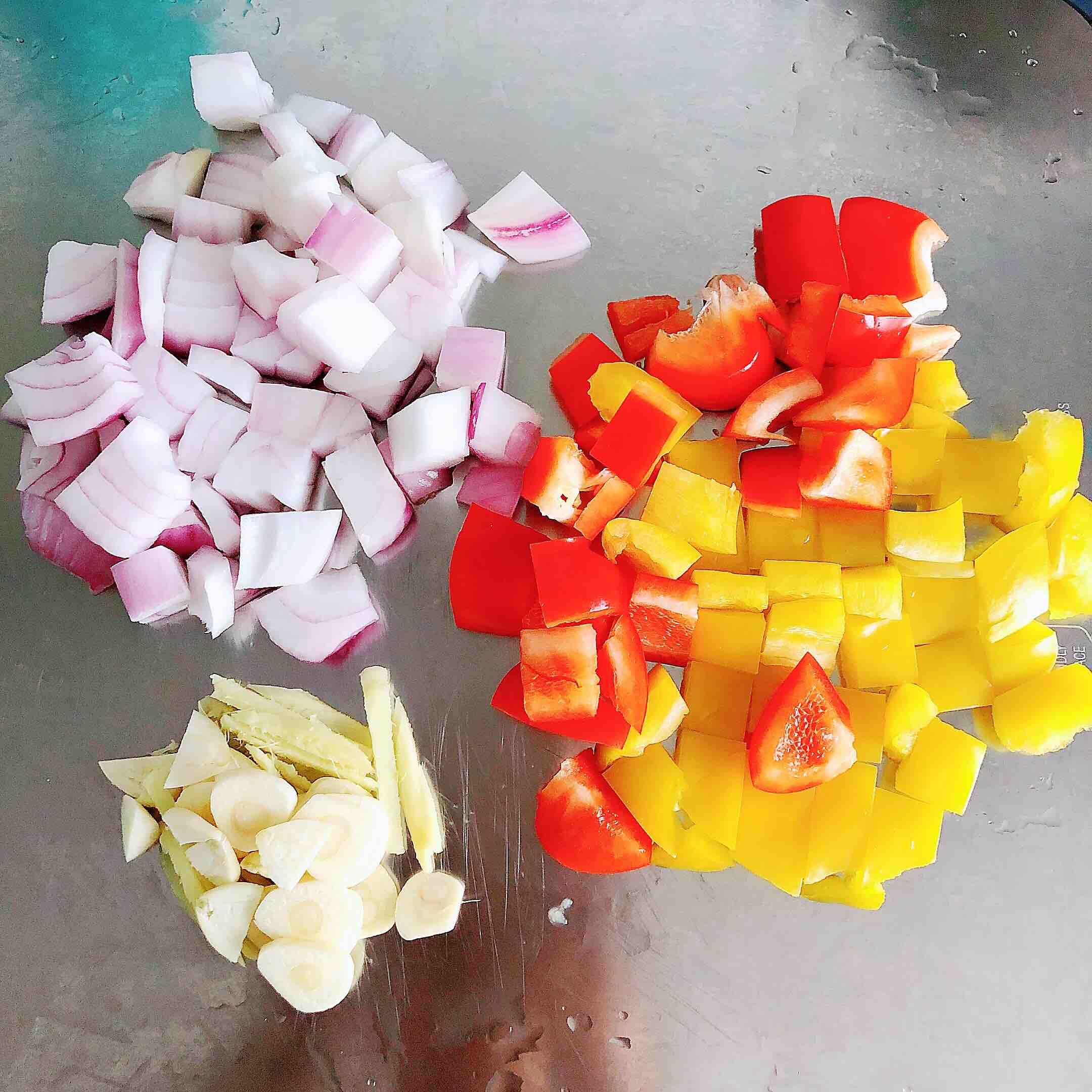 咖喱虾仁鲜蔬意面的做法图解