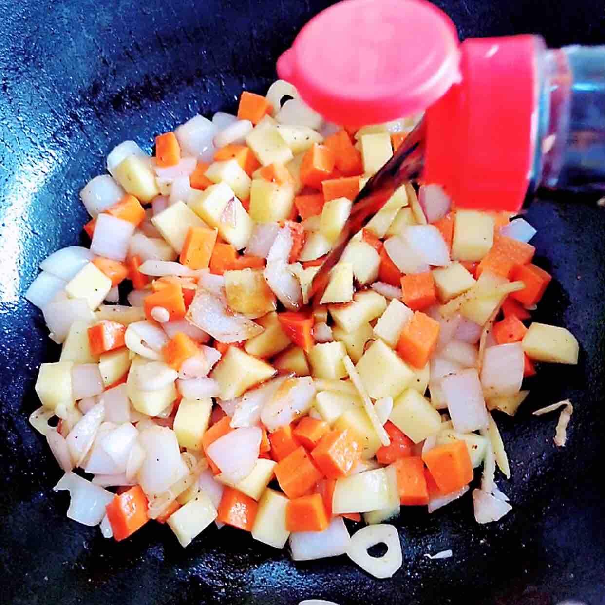 咖喱虾仁鲜蔬意面怎样炒
