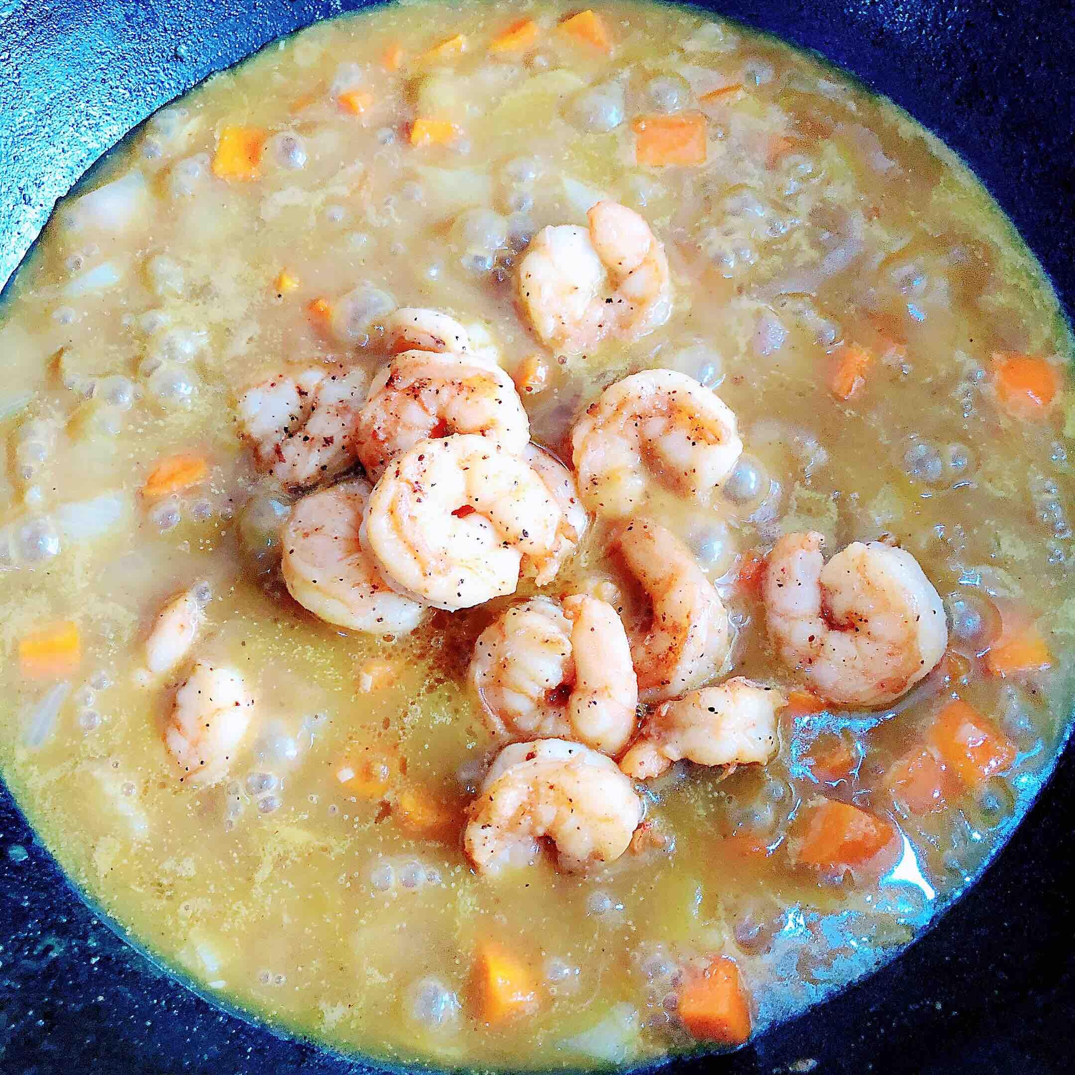 咖喱虾仁鲜蔬意面的制作
