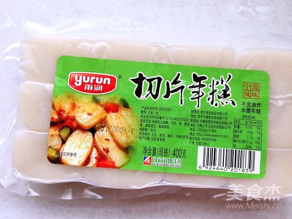 辣白菜炒年糕的简单做法