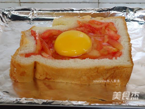西红柿太阳蛋吐司怎么做