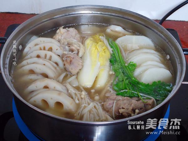 香浓牛肉味清汤火锅怎么吃
