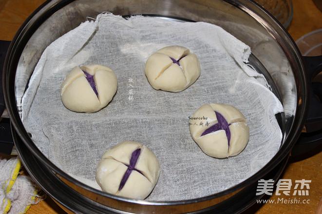 紫薯开花馒头怎样炒