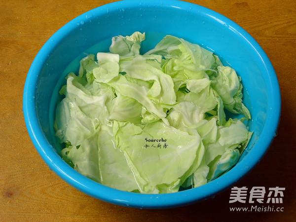 青椒炒包菜的做法图解