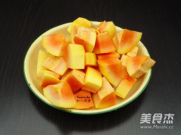木瓜麦胚粥的做法图解