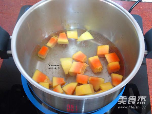 木瓜麦胚粥的家常做法