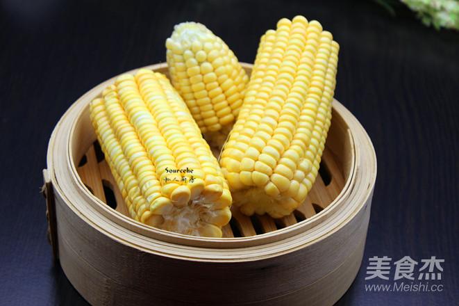 蜜汁蒸玉米的家常做法
