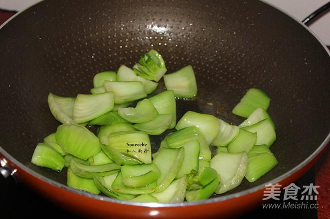 肉片炒青菜的简单做法