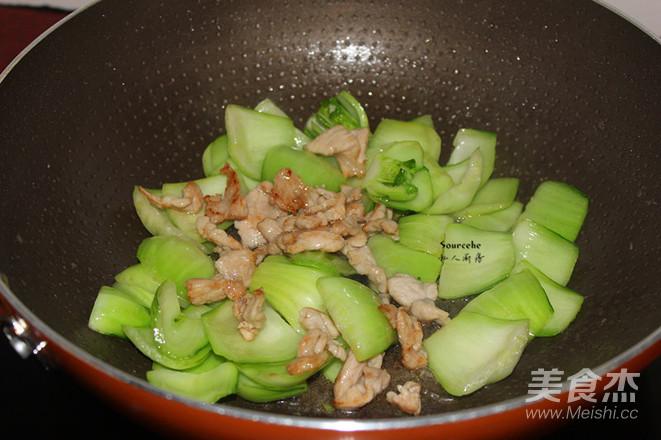 肉片炒青菜怎么吃