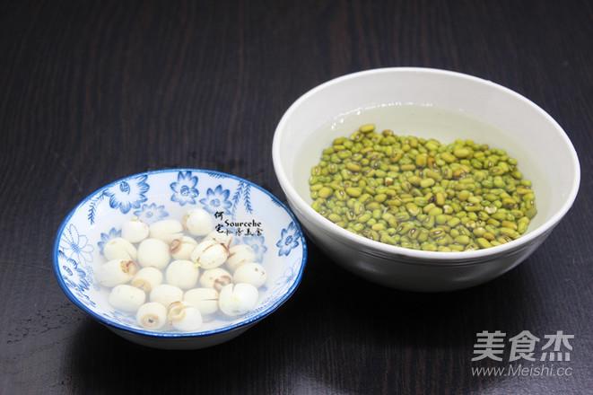 莲子百合绿豆粥的做法图解