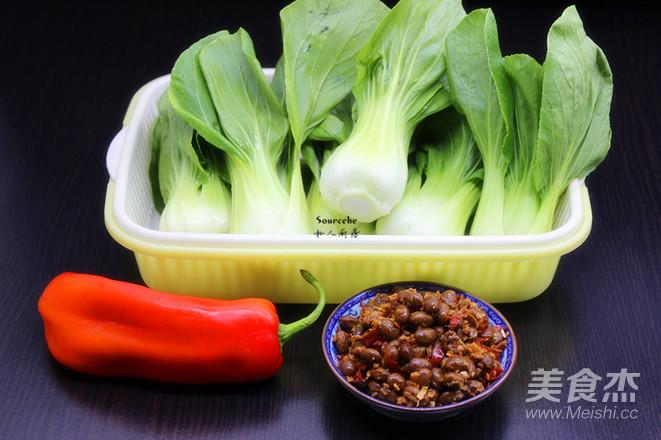 腊八豆炒上海青的做法大全