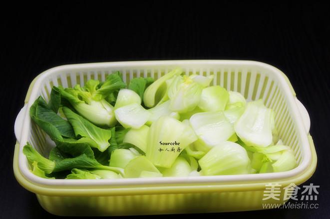腊八豆炒上海青的做法图解