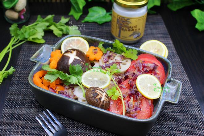 清爽椰油拌沙拉成品图