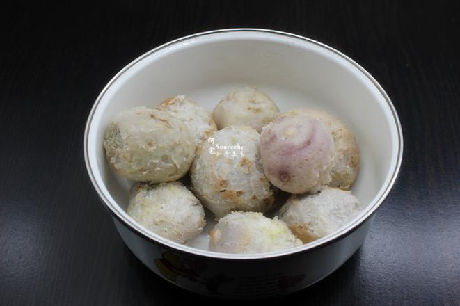 酥香芋头虾米丸子的家常做法