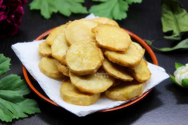 酥脆五香炸薯片成品图