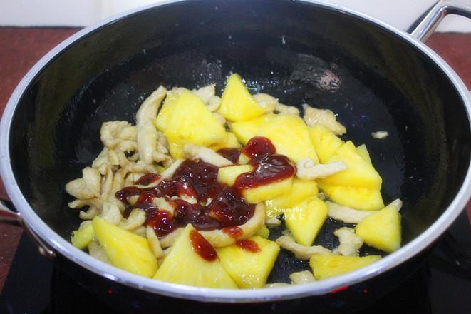 菠萝炒鸡胸肉怎么煮