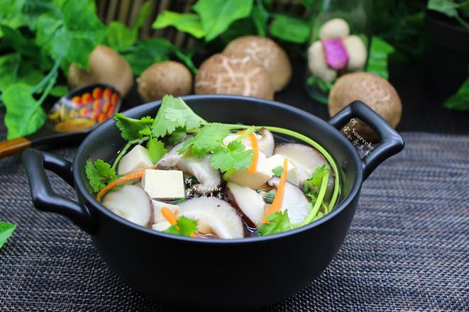 豆腐香菇汤成品图