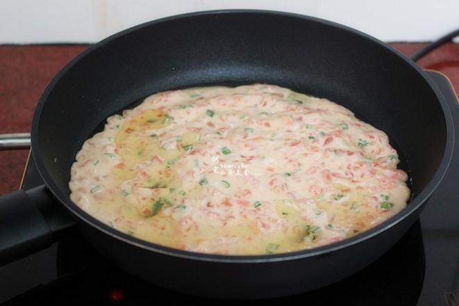 西红柿鸡蛋饼怎么做