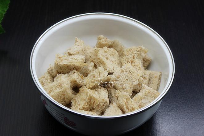 营养沙拉面包丁的家常做法