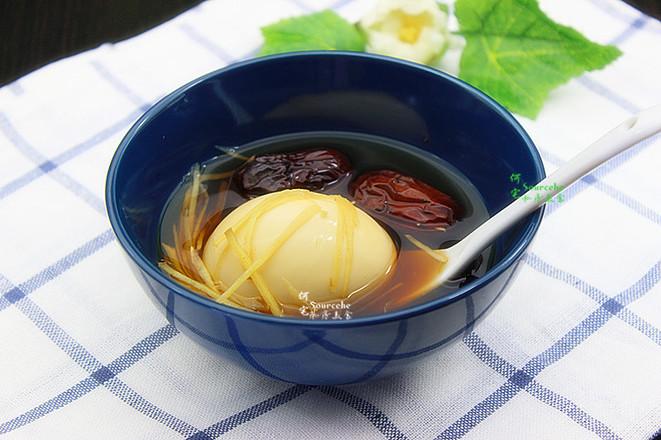 生姜红枣煮鸡蛋成品图
